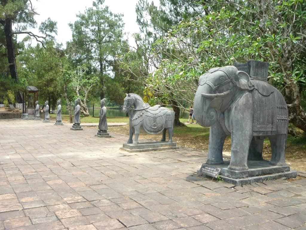 Minh Mang Tomb in Hue City vietnam