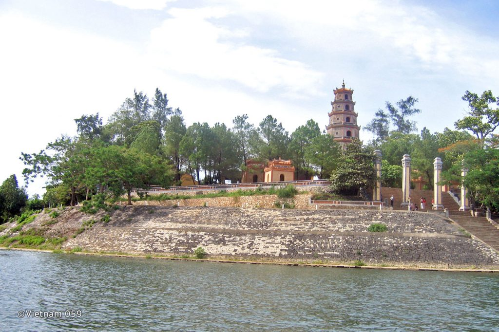 Perfume River in Hue Vietnam
